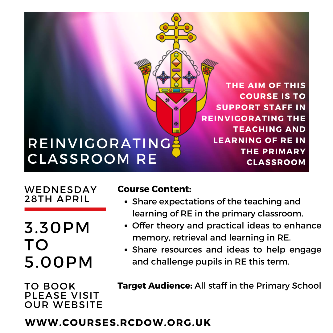 Reinvigorating Classroom RE 28 April