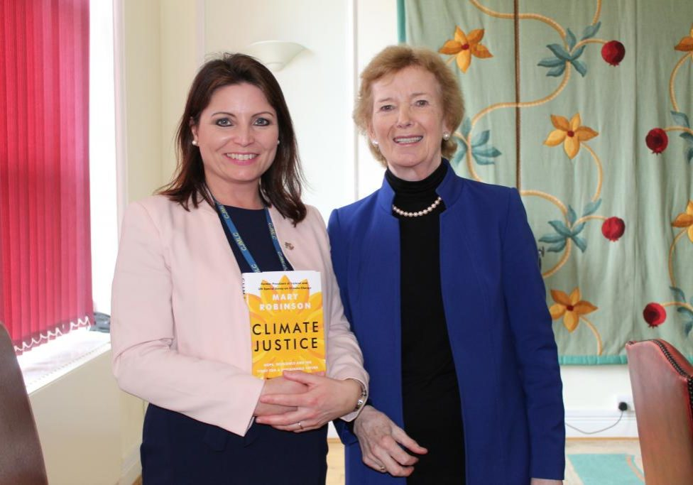 l. headmistress louise mcgowan and r. mary robinson